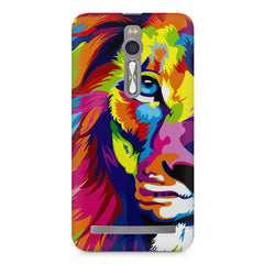 Colourfully Painted Lion design,  Asus Zenfone 2 ( ZE551 ML ) printed back cover