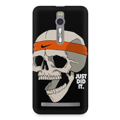 Skull Funny Just Did It !  design,  Asus Zenfone 2 ( ZE551 ML ) printed back cover