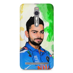 Virat Kohli Oil Painting India design,  Asus Zenfone 2 ( ZE551 ML ) printed back cover