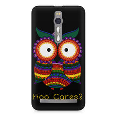 Owl funny illustration Hoo Cares Asus Zenfone 2 ( ZE551 ML ) printed back cover