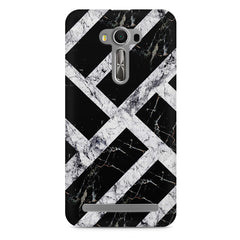 Black & white rectangular bars  Asus Zenfone 2 Laser ZE500ML printed back cover