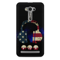 America tunes Blue sprayed  Asus Zenfone 2 Laser ZE500ML printed back cover