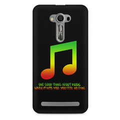 Music quotes  Asus Zenfone 2 Laser ZE550KL printed back cover