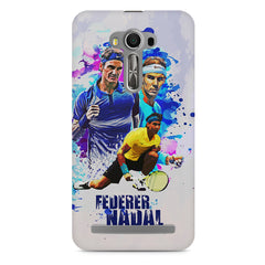 Federer and Nadal Oil Fanart design,  Asus Zenfone 2 Laser ZE500ML printed back cover