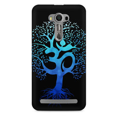 A beautiful blue tree with Om inscribed Asus Zenfone 2 Laser ZE500ML hard plastic printed back cover
