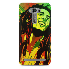 Bob Marley Multi colour fun Portrait Painting  capturing him in his happy avatar Asus Zenfone 2 Laser ZE500ML hard plastic printed back cover