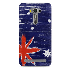 Australian flag design    Asus Zenfone 2 Laser ZE500ML hard plastic printed back cover