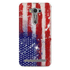 American flag design    Asus Zenfone 2 Laser ZE500ML hard plastic printed back cover