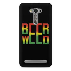 Beer Weed Asus Zenfone 2 Laser ZE500ML hard plastic printed back cover