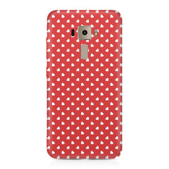 Cute hearts all over the cover design    Asus Zenfone 3 hard plastic printed back cover