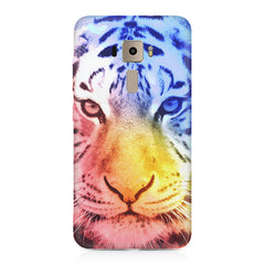 Colourful Tiger Design Asus Zenfone 3 hard plastic printed back cover