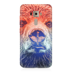 Zoomed Bear Design  Asus Zenfone 3 hard plastic printed back cover