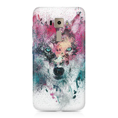 Splashed colours Wolf Design Asus Zenfone 3 hard plastic printed back cover