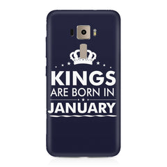Kings are born in January design    Asus Zenfone 3 hard plastic printed back cover