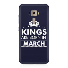 Kings are born in March design    Asus Zenfone 3 hard plastic printed back cover