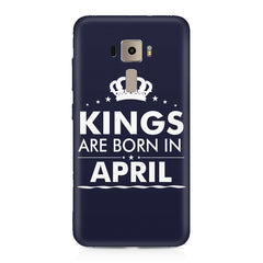 Kings are born in April design    Asus Zenfone 3 hard plastic printed back cover