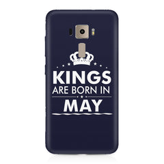 Kings are born in May design    Asus Zenfone 3 hard plastic printed back cover