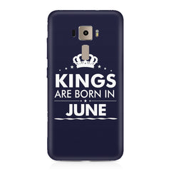 Kings are born in June design    Asus Zenfone 3 hard plastic printed back cover