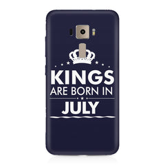 Kings are born in July design    Asus Zenfone 3 hard plastic printed back cover