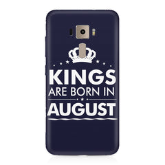 Kings are born in August design    Asus Zenfone 3 hard plastic printed back cover