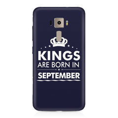 Kings are born in September design    Asus Zenfone 3 hard plastic printed back cover