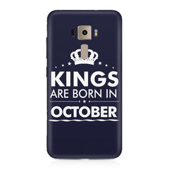 Kings are born in October design    Asus Zenfone 3 hard plastic printed back cover