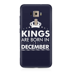 Kings are born in December design    Asus Zenfone 3 hard plastic printed back cover