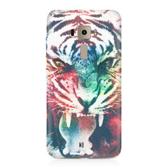 Tiger with a ferocious look Asus Zenfone 3 hard plastic printed back cover