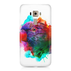 Colourful parrot design Asus Zenfone 3 hard plastic printed back cover