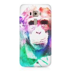 Colourful Monkey portrait Asus Zenfone 3 hard plastic printed back cover