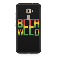 Beer Weed Asus Zenfone 3 hard plastic printed back cover
