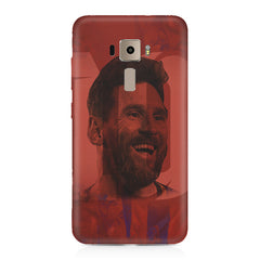 Messi jersey 10 blended design Asus Zenfone 3 hard plastic printed back cover