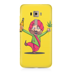 Sardar dancing with Beer and Marijuana  Asus Zenfone 3 hard plastic printed back cover