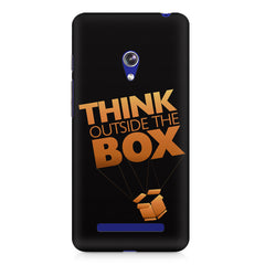Think Outside The Box- Entrepreneur Lines design,  Asus Zenfone 5 printed back cover
