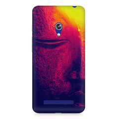 Half red face sculpture  Asus Zenfone 5 printed back cover