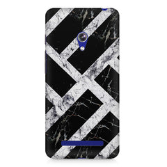 Black & white rectangular bars  Asus Zenfone 5 printed back cover