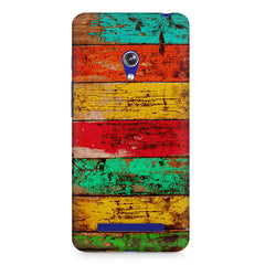 Strips of old painted woods  Asus Zenfone 5 printed back cover
