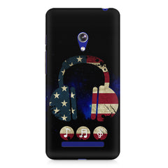 America tunes Blue sprayed  Asus Zenfone 5 printed back cover