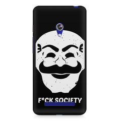 Fuck society design Asus Zenfone 5 printed back cover