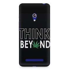 Think beyond weed design Asus Zenfone 5 printed back cover