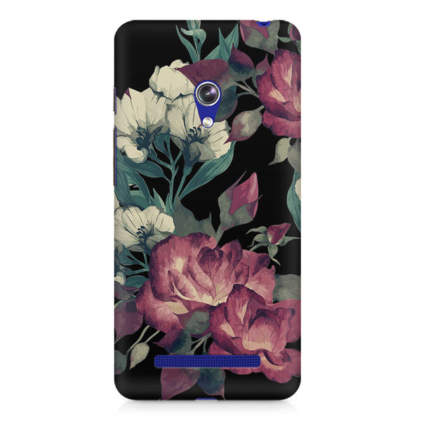 Abstract colorful flower design Asus Zenfone Go printed back cover