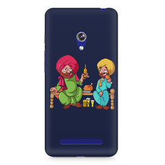 Punjabi sardars with chicken and beer avatar Asus Zenfone Go hard plastic printed back cover