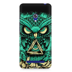 Owl Art design,  Asus Zenfone 5 printed back cover
