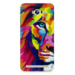 Colourfully Painted Lion design,  Asus Zenfone Max printed back cover