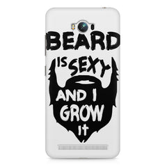 Beard is sexy & I grow it quote design    Asus Zenfone Max hard plastic printed back cover