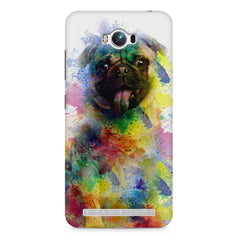 Colours splashed pug    Asus Zenfone Max hard plastic printed back cover
