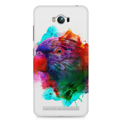 Colourful parrot design Asus Zenfone Max hard plastic printed back cover
