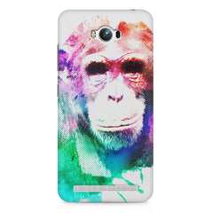 Colourful Monkey portrait Asus Zenfone Max hard plastic printed back cover