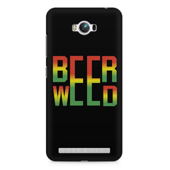 Beer Weed Asus Zenfone Max hard plastic printed back cover