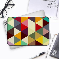 Awesome colourful triangles abstract designBoth side printed Laptop Sleeves